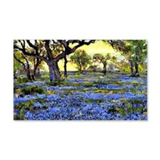 Old Live Oak Tree and Bluebonnets Wall Sticker