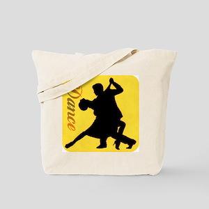 Dance Couple Silhouette Tote Bag