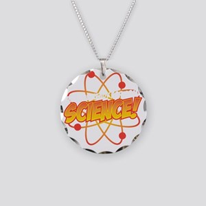 Science Necklace Circle Charm