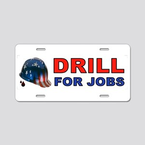 DRILLER HAT Aluminum License Plate