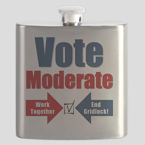 Vote Moderate Square Flask