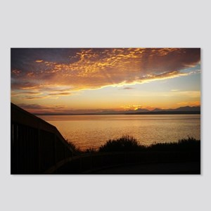 Radiant Seattle Sunset Postcards (Package of 8)
