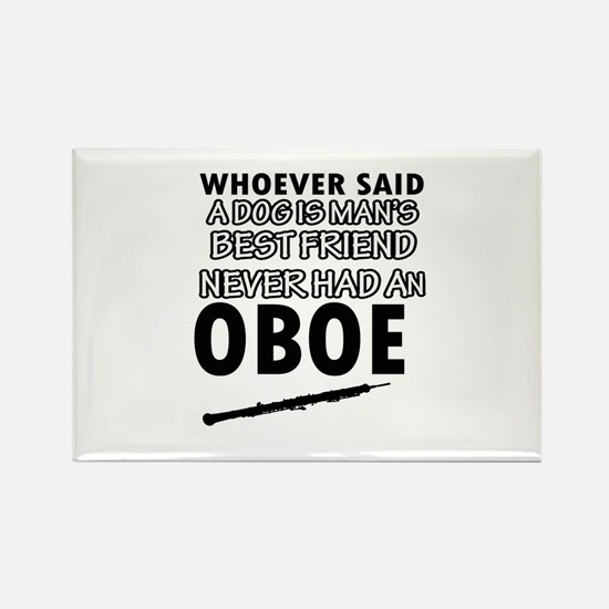 Cool Oboe designs Rectangle Magnet