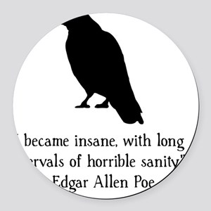 Edgar Allen Poe Quote Black Round Car Magnet
