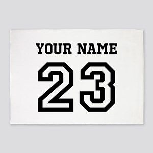 Personalize Sports Jersey 5'x7'Area Rug
