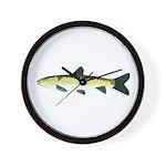 black carp Wall Clock