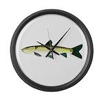 black carp Large Wall Clock