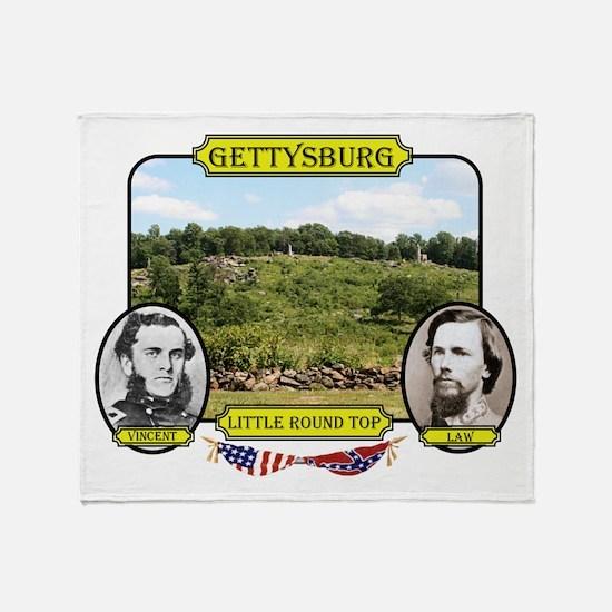 Gettysburg-Little Round Top Throw Blanket