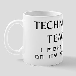 Technology Teacher Zombie Fighter Mug