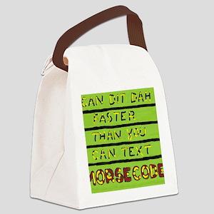 I Can Dit Dah JPEG Canvas Lunch Bag