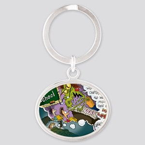 The Nightmare Before Class-mas Oval Keychain