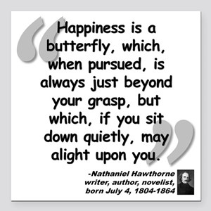 """Hawthorne Happiness Quot Square Car Magnet 3"""" x 3"""""""
