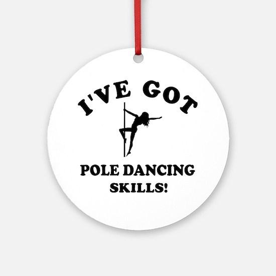 Pole Dancing designs Round Ornament