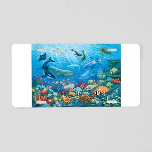 Oceanscape Aluminum License Plate