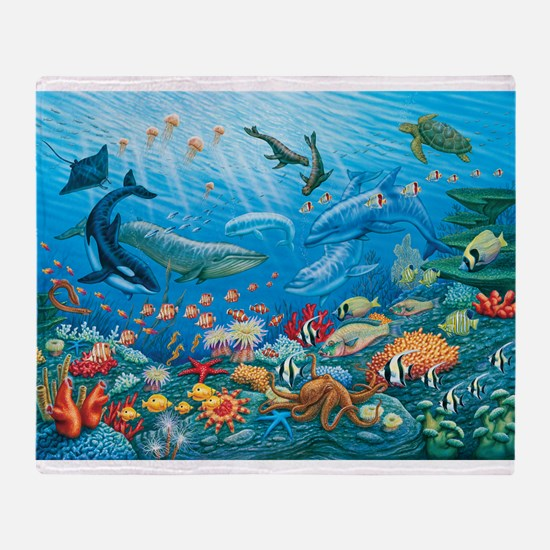 Oceanscape Throw Blanket