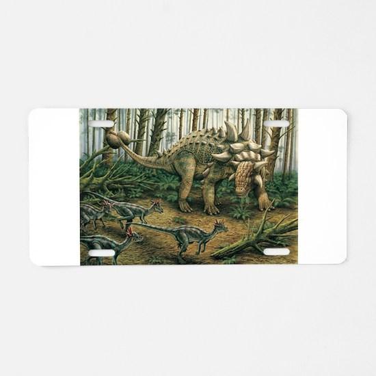 Euoplocephalus with Stygimoloch in foreground Alum
