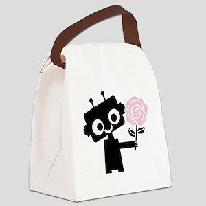 Digital History - pink Canvas Lunch Bag