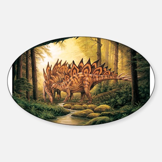 Stegosaurus Pair in Forest Decal