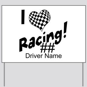 Custom Racing Yard Sign