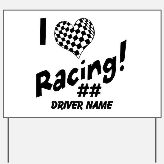 Custom Racing Yard Sign