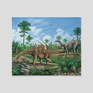 Huayangosaurus Throw Blanket