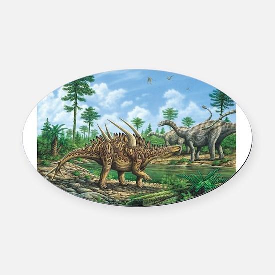 Huayangosaurus Oval Car Magnet