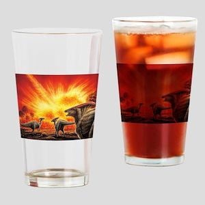 Parasaurolophus Meteor Strike Drinking Glass