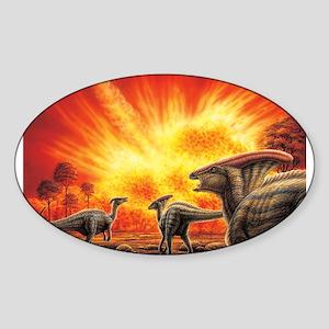 Parasaurolophus Meteor Strike Sticker