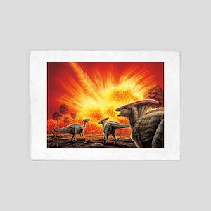 Parasaurolophus Meteor Strike 5'x7'Area Rug
