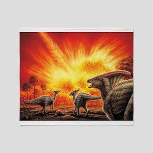 Parasaurolophus Meteor Strike Throw Blanket