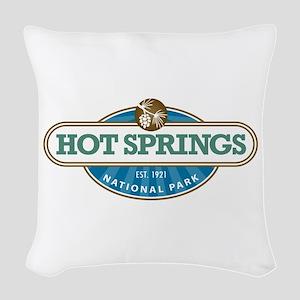 Hot Springs National Park Woven Throw Pillow