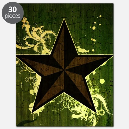 Green Nautical Star Puzzle