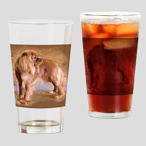 Cavalier King Charles Spaniel -Ruby Drinking Glass