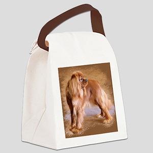 Cavalier King Charles Spaniel -Ru Canvas Lunch Bag