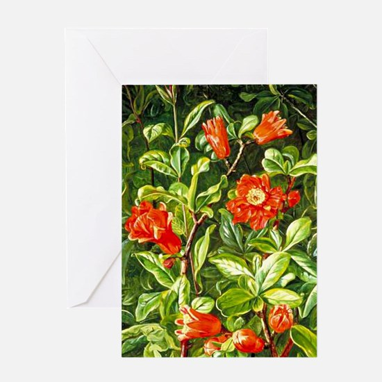 Flowers of the Pomegranate-Marianne  Greeting Card