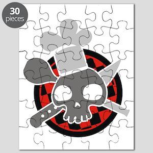 Totenkopf mit Kochmütze Puzzle