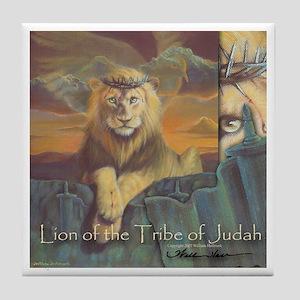 """Lion of Judah"" Fine Art Tile Coaster"