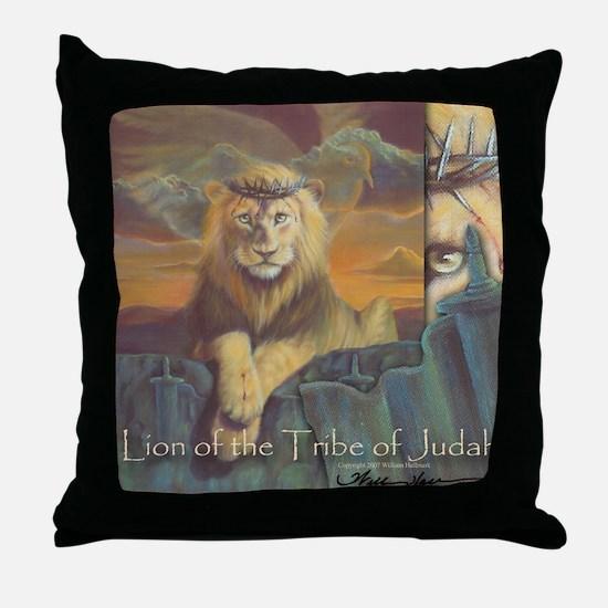 """The Lion of Judah"" Fine Art Christian Pillow"