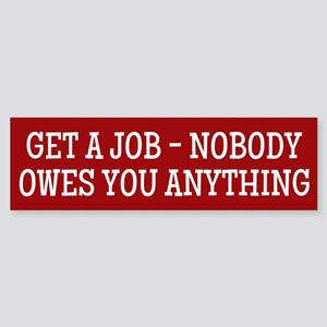 Get A Job Bumper Sticker