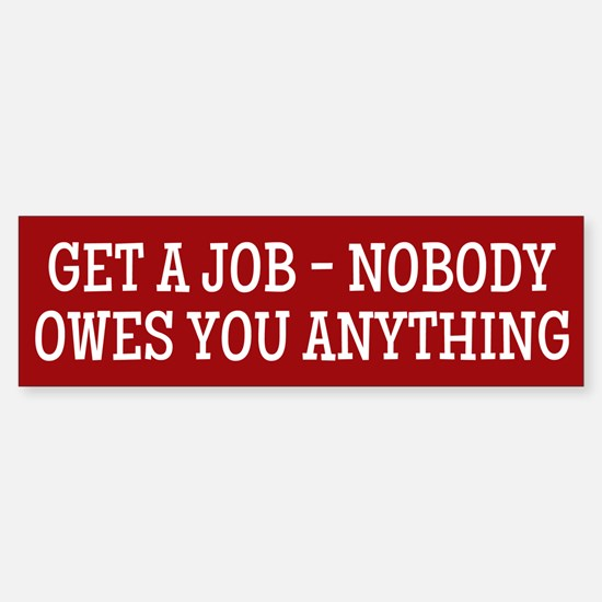 Get A Job Bumper Car Car Sticker