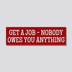 Get A Job Car Magnet 10 x 3