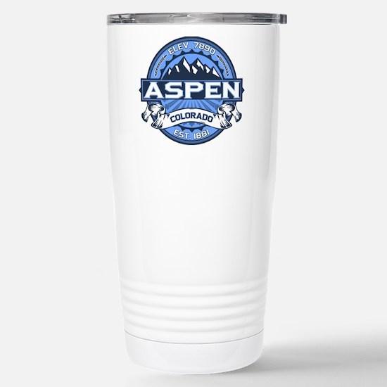 Aspen Blue Stainless Steel Travel Mug