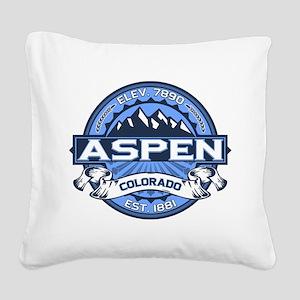 Aspen Blue Square Canvas Pillow