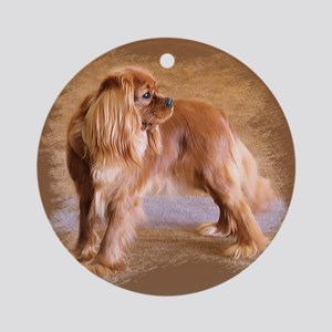 Cavalier King Charles Spaniel -Ruby Ornament (Roun
