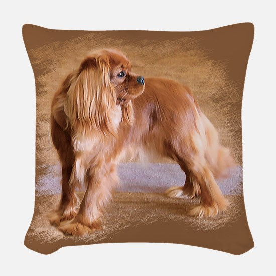 Cavalier King Charles Spaniel -Ruby Woven Throw Pi