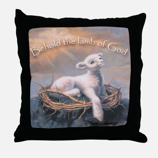 """Behold the Lamb"" Fine Art Lamb of God Pillow"