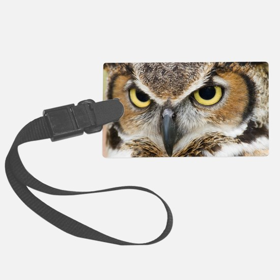 Great Horned Owl Luggage Tag