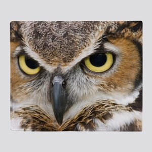 Great Horned Owl Throw Blanket