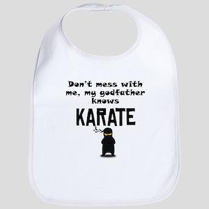 My Godfather Knows Karate Bib