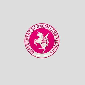 GNOMELAND SECURITYhot pink Mini Button